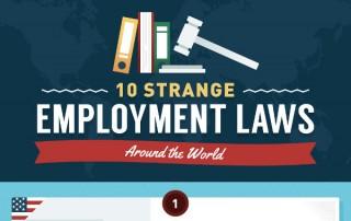 [Infographic] Strange Employment Laws Around the World