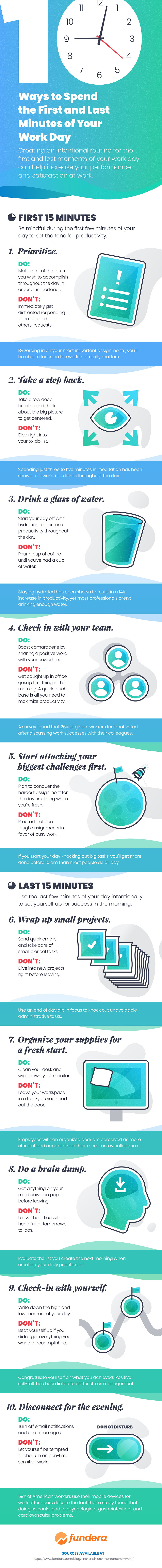 [Infographic] How To Start And End Your Workday