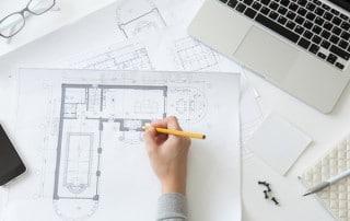 interior design of a workplace
